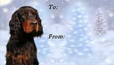 Gordon Setter Christmas Labels by Starprint