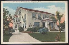 1920s POSTCARD MOVIE STAR HOME VIOLA DANA HOLLYWOOD CA CALIFORNIA