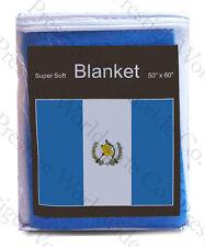 Guatemala Flag Fleece Blanket NEW 5 ft x 4.2 ft Travel Guatemalan Cobija Frazada