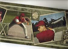 BASEBALL CARDS SPORTS WALLPAPER BORDER  BW77438LL