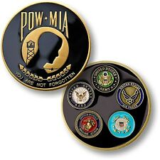 NEW POW MIA You are not Forgotten - All 5 Forces Challenge Coin. 60566.