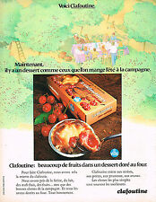 PUBLICITE ADVERTISING  1972   VITHO    dessert CLAFOUTINE