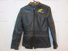 Vintage Honda Goldwing Motorcycle Leather Jacket Hondaline Womens