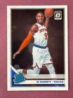 2019-20 Donruss Optic RJ Barrett Rated Rookie Base RC New York Knicks #178🔥