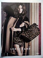 PUBLICITE-ADVERTISING :  LONGCHAMP Pliage Héritage  2014 Sac Panthère,Mode