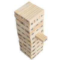 New Stacking Tumbling Tower Wooden  Funny Family Traditional Board Game