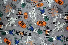 NEW ~ Halloween Print Scrub Top ~ 5X ~ Gray Goblins