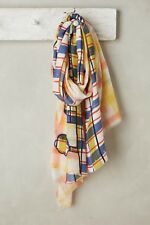 NWT $188 Anthropologie Mii Embroidered Plaid Scarf