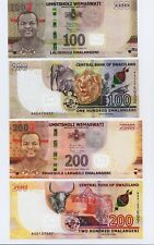 Swaziland,2 banknotes set ,P New ,2018,SET, 100/200 Lilangeni in UNC condition