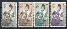 Laos 1958 Red Cross stamp Michel #81-84 clean MNH OG