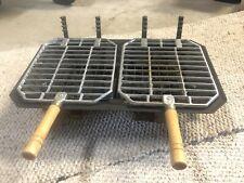 Vintage Hibachi Cast Iron Tabletop Grill, 10 X 17 Rare Complete