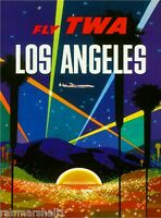 Los Angeles California Hollywood Bowl United States Travel Advertisement Poster