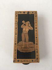 Piccolo legno quadratini ITALIA SORRENTO RADICA Wood intarsio BOX
