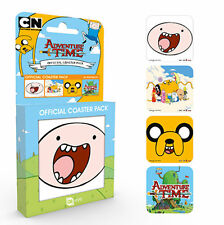 ADVENTURE TIME FINN JAKE 4 COASTER SET NEW GIFT BOXED 100 % OFFICIAL MERCHANDISE