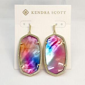 Kendra Scott Danielle Statement Earrings In Watercolor Illusion / Gold