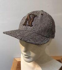 12128a49744 Nixon Chocolate Brown HERRINGBONE Wool Blend Fitted Baseball Cap New Era 7 1  8