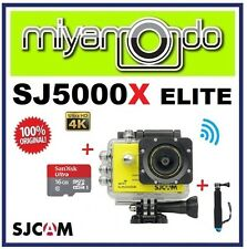 SJCAM Original SJ5000X Elite WiFi Action Camera (Yellow) + Monopod +microSD 16GB