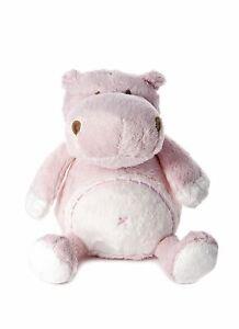 Peluche petit hippopotame rose clair pour nouveau-né petite fille