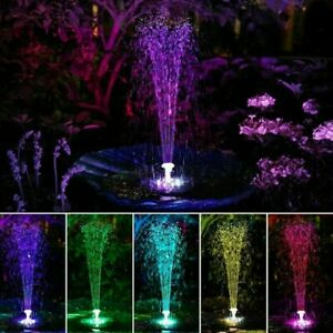 RGB LED Wasserspiel Solarpumpe mit Akku Springbrunnen Gartenbrunnen Teichpumpe