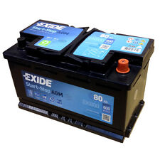 Exide AGM start-stop Batterie ek800 en (a): 800 12v 80ah dernier MODEL 2014/15