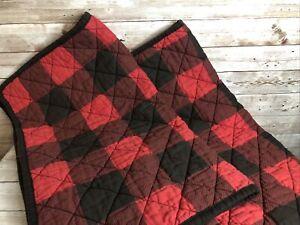 Martha Stewart Set Of 2 Buffalo Plaid Quilted Standard Pillow Shams