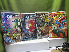 LOT 4 DOOMSDAY Comics - - DC SUPERMAN MAN OF STEEL /,ADVENTURE AND SUPERM