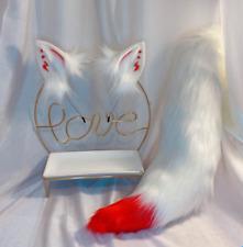 Cosplay Nine Fox Furry Animal Ears Simulation Beast Tail Headband Props Zha19