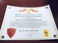 Military Commemorative / Vietnam Gallantry Cross Unit Citation Certificate
