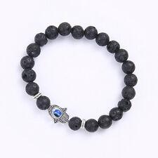 Lucky Women Hamsa Khamsa Evil Eye Hand of Fatima Charm Beads Bracelet Jewelry