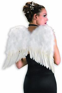 """White Feather Angel Wings 22"""" Fairy Dress Up Heavenly Costume Accessory One Size"""