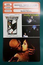 German Vampire Movie Nosferatu the Vampyre Klaus Kinski  French Film Trade Card