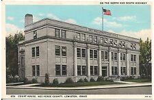 Nez Perce County Court House in Lewiston ID Postcard 1943