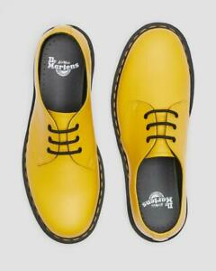 Dr. Martens Classic 1461 Yellow Smooth 3-Eyelet Lace-up Flat Shoes UK 3 - 12