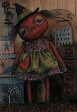 Pattern Primitive Halloween Pumpkin Witch Doll Uncut Oop Threadbare Primitives