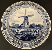 Royal Goedewaagen Blue Delft Bergmolen Bergmill Wall Plate Holland Blue & White