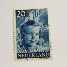 Nederland Netherlands B233 Θ used 20 + 7c Blue Girl postage stamp