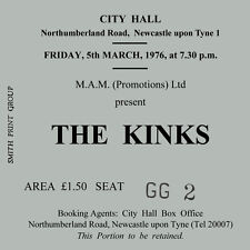 The Kinks/Ray Davies Concert Coasters Ticket March 1976 High quality mdf Coaster