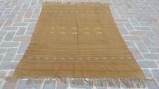 4'6 x 6'4 Handmade vintage afghan sumak wool persian rare turkish area kilim rug