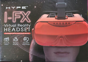 HYPE I-FX Virtual Reality Headset Silver/Black Red New in Box Sealed