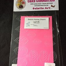 Gelatin Veining Sheets Leaf #1 Cake Decorating