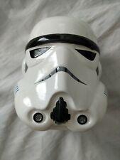 """Star Wars Storm Trooper Helmet 3D Ceramic Piggy Bank 7"""" tall Lucas Films Ltd NEW"""