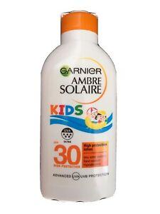 Garnier Ambre Solaire Kids Milk SPF 30 200ml FREE P&P
