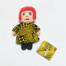 Yayoi Kusama Soft  Mascot Plush key Ring yellow Japan NEW