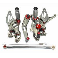 Adjustable Rearset Rear Sets Foot Pegs Pedals SUZUKI GSX-R 600 750  2006-2010