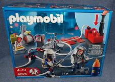 PLAYMOBIL FIREFIGHTERS 2008 FIRE FIGHTERS WITH WATER PUMP SET #4825