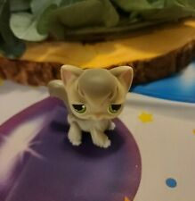 Littlest Pet Shop #20 Grey Angora Kitty Cat Green Eyes Lps
