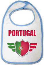 Bavoir Bébé Bleu Portugal - naissance bavette biberon allaitement garçon