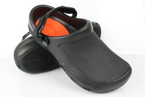 Crocs Men's Bistro Pro LiteRide Work Clogs Size 11m Black 205669 001