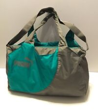 PUMA DUFFLE BAG, TEAL/GRAY