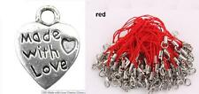 Party Bag Fillers Loot Made With Love Heart Charms With Red Lanyard UK Seller